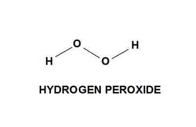 Image result for hydrogen peroxide molecule