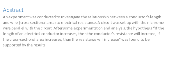 relationship between a conductors length and wire Well, the relationship is directly proportional: the longer the wire, the stronger its resistance however, if you actually want an experiment to carry out, do the following: equipment needed: voltmeter, ammeter, length of (metallic conductor) wire.