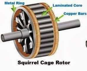 Image result for squirrel cage rotor