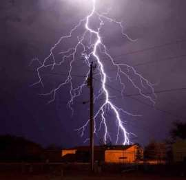 Image result for lightning strikes electrical lines
