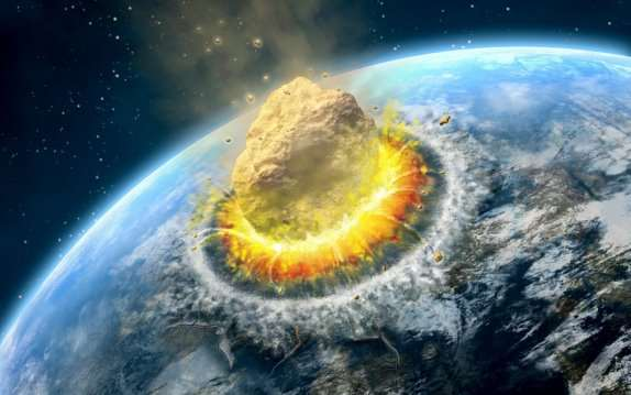 Image result for asteroid hitting earth HD