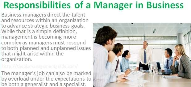 Image result for Responsibilities of Manager